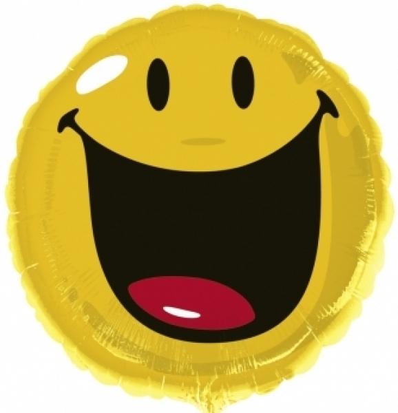 Folienballon Smiley lacht - Zunge