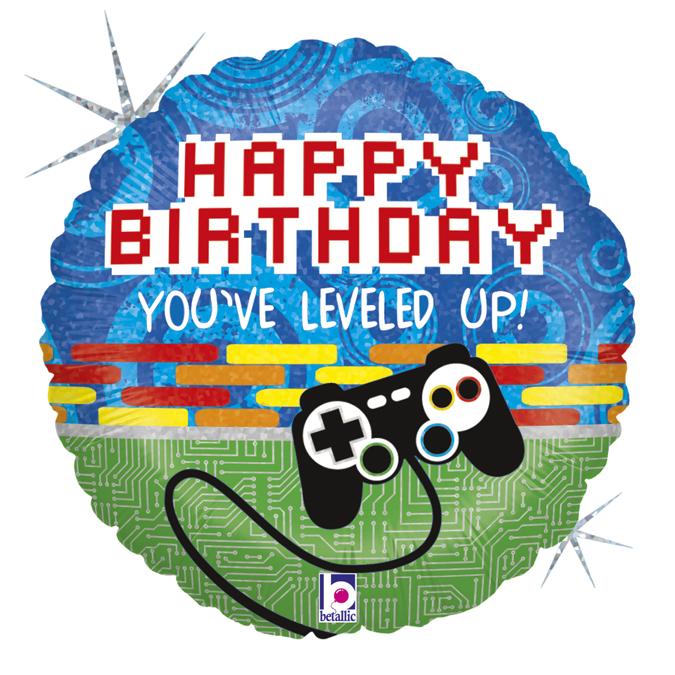 Folienballon Game Controller Birthday - 65631