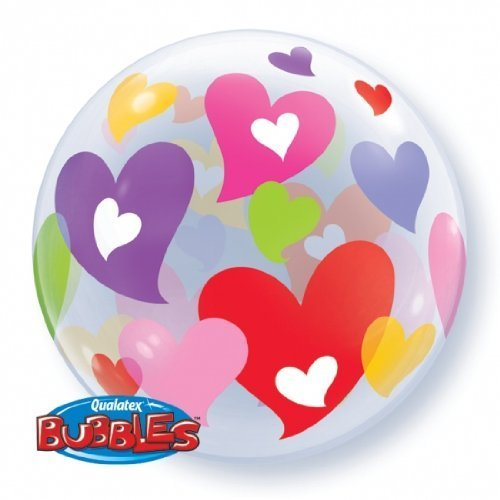 Bubble Colorful Hearts