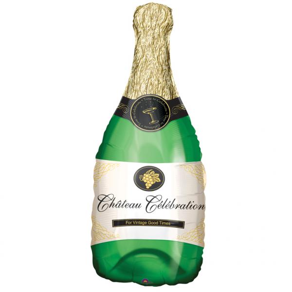 SuperShape Folienballon Champagnerflasche