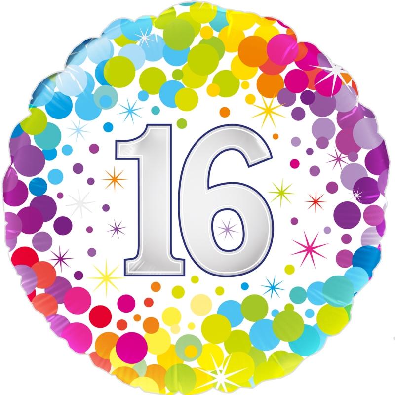 Folienballon Colourful Confetti 16