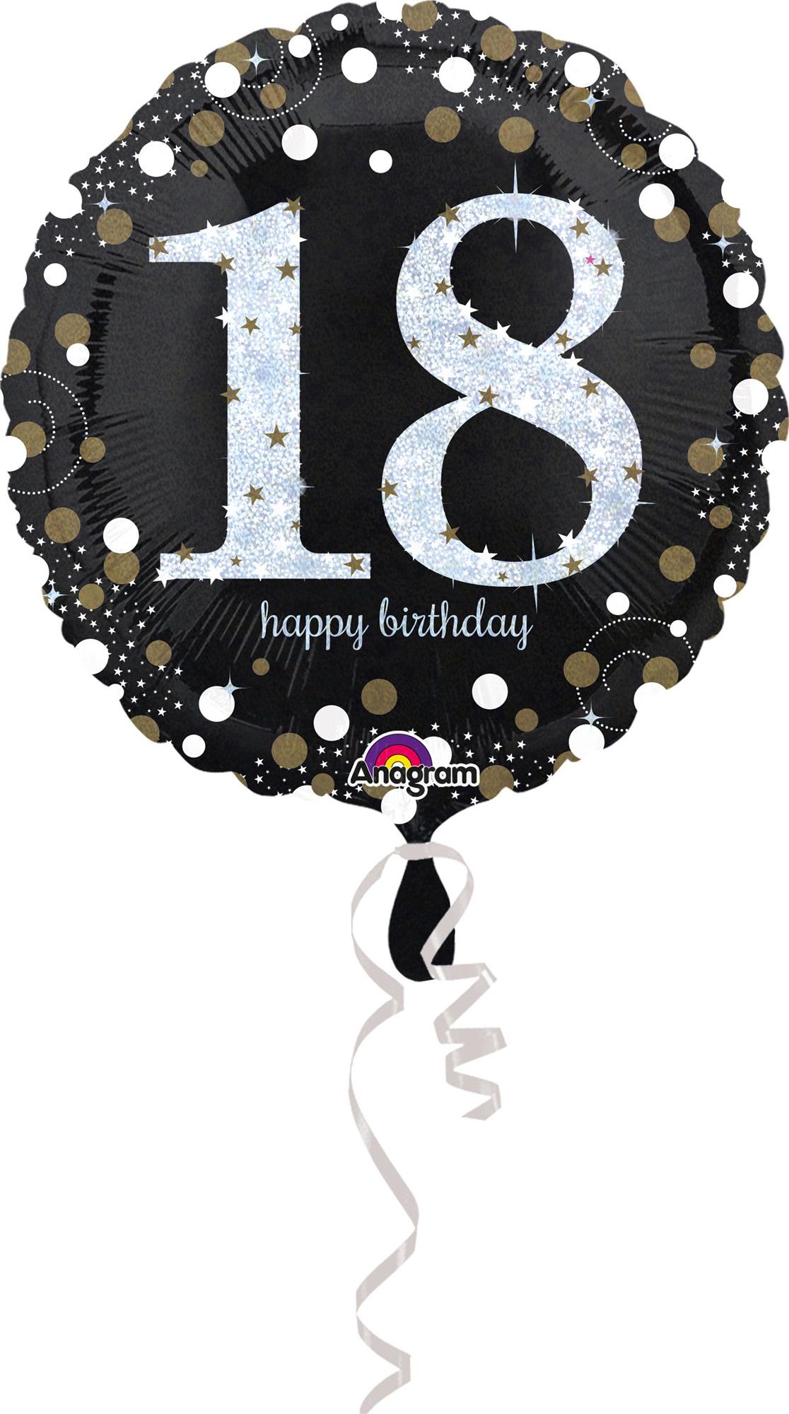 Folienballon Sparkling Birthday 18