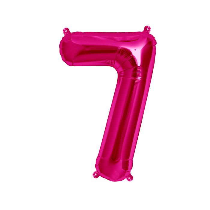 Zahlenballon Magenta S - 7