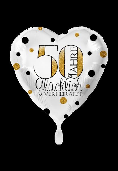 Folienballon 50 Jahre glücklich verheiratet