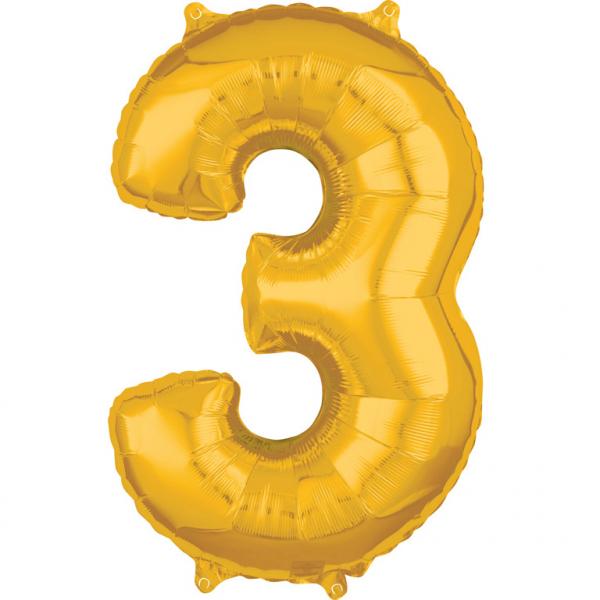 Zahlenballon Gold L - 3