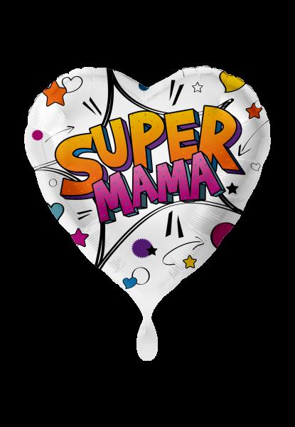 Folienballon Super Mama