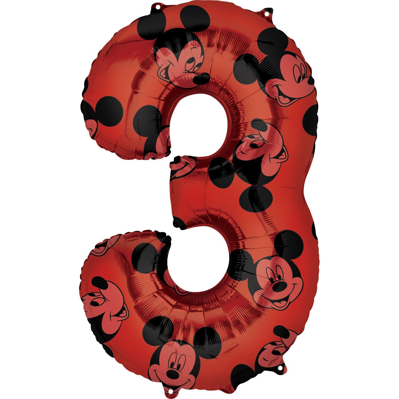 Zahlenballon Mickey Mouse Alloverdruck L - 3