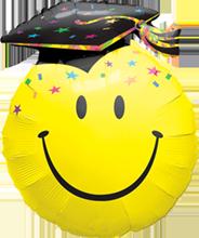 Folienballon Supershape Smile Face Party Grad