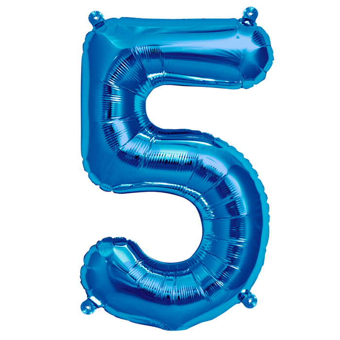Zahlenballon Blau XL - 5
