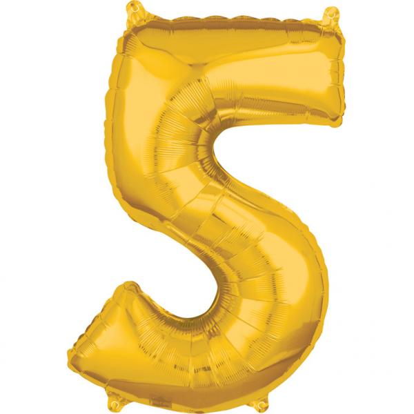 Zahlenballon Gold L - 5