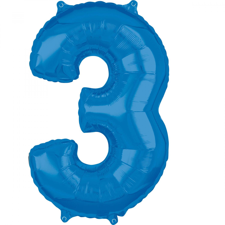 Zahlenballon Blau L - 3