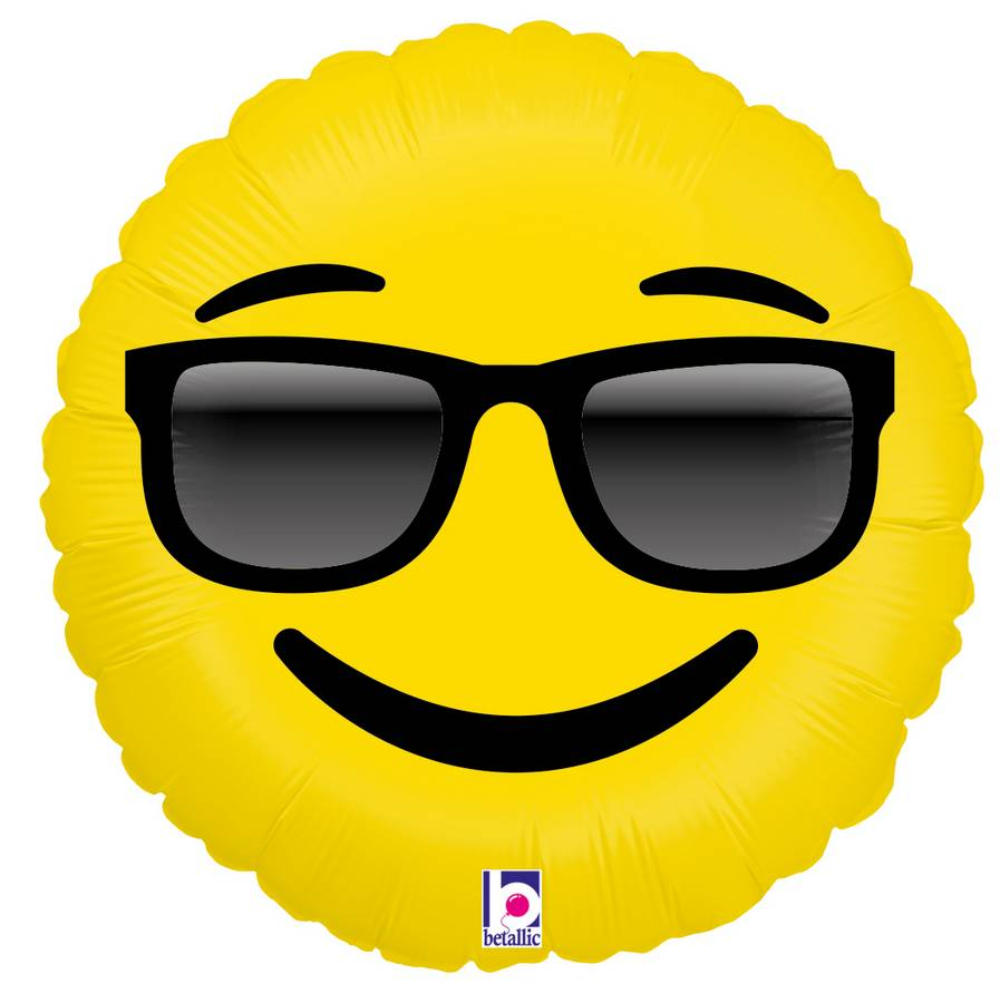 Folienballon Emoji Brille