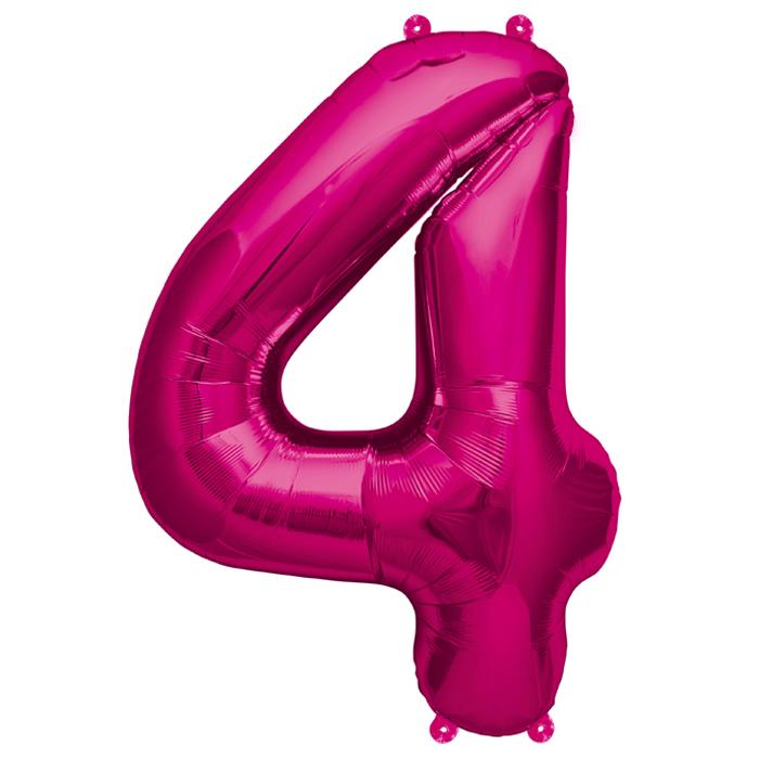 Zahlenballon Magenta XL - 4