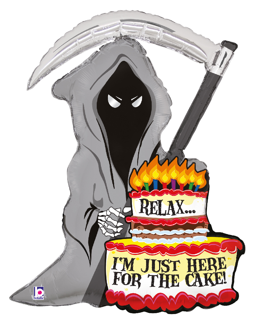 Folienballon Birthday Just here for cake
