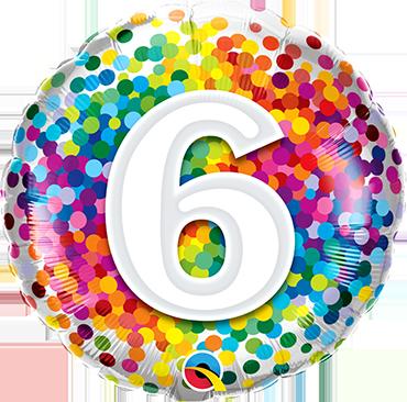 Folienballon Rainbow Confetti 6