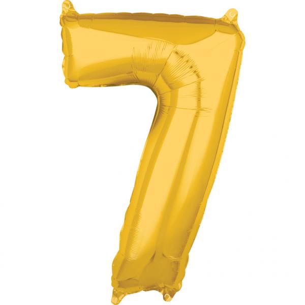 Zahlenballon Gold L - 7