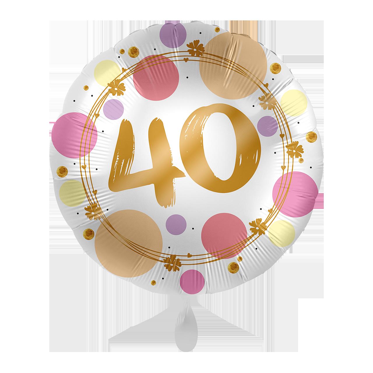 Folienballon Shiny Dots 40