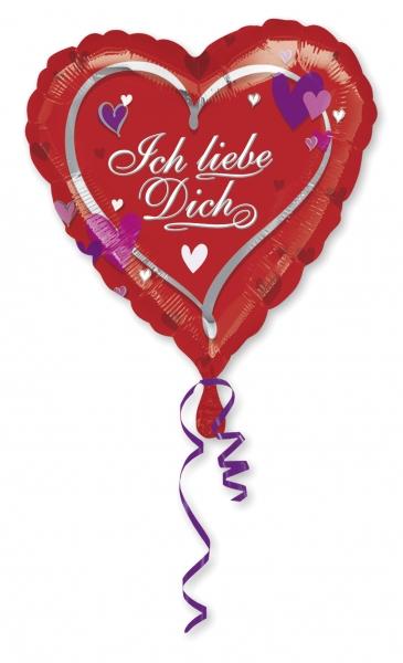 Folienballon Ich liebe Dich