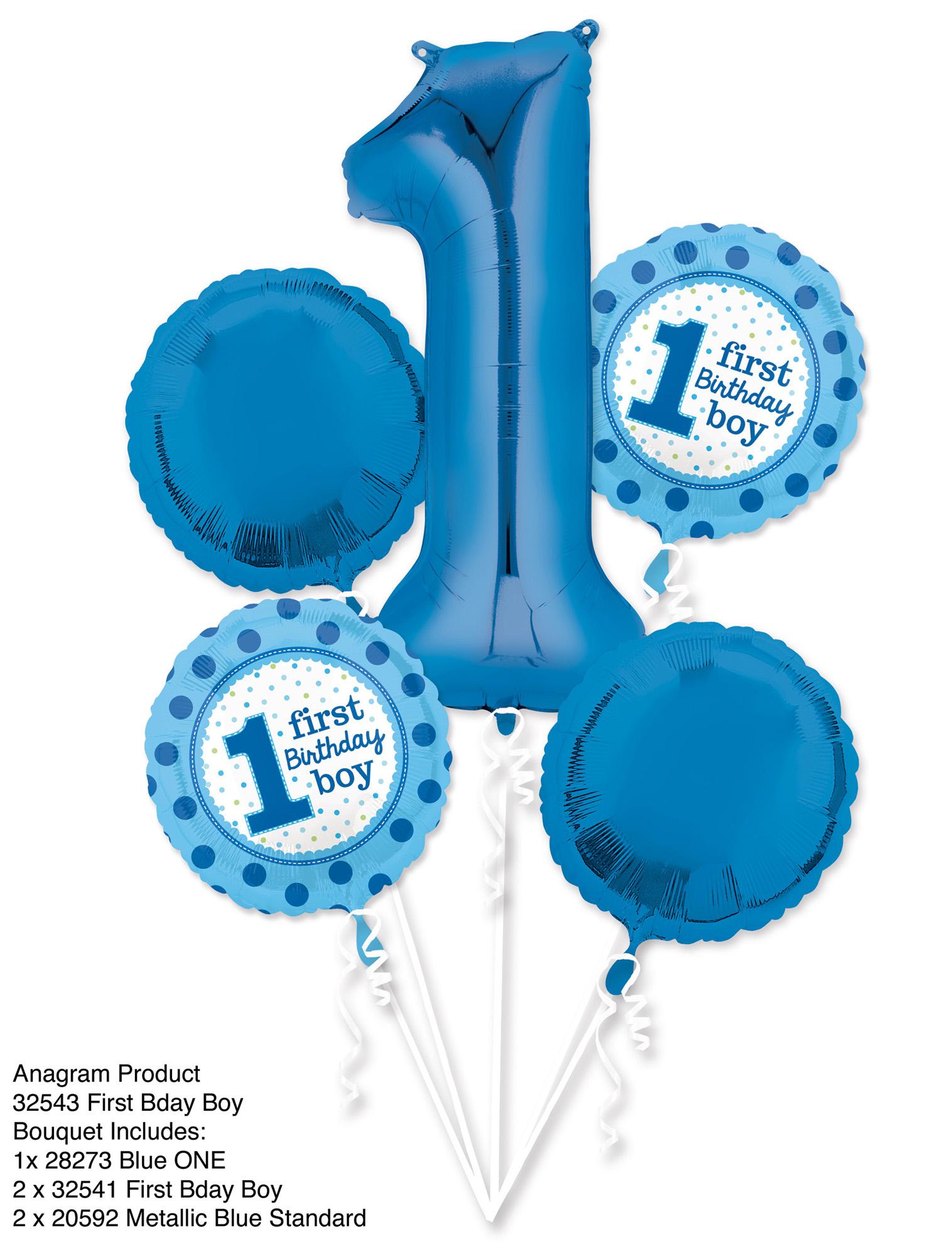 Folien-Bouquet 1ter Geburtstag Junge