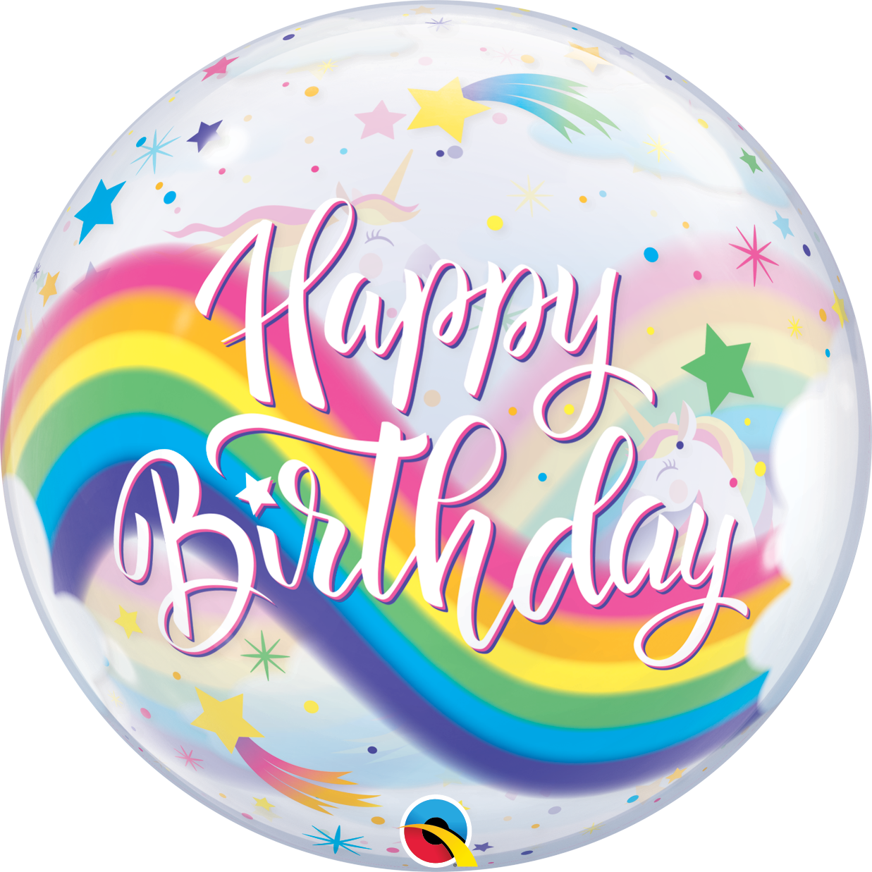 Bubble Birthday Rainbow Unicorn - 63815