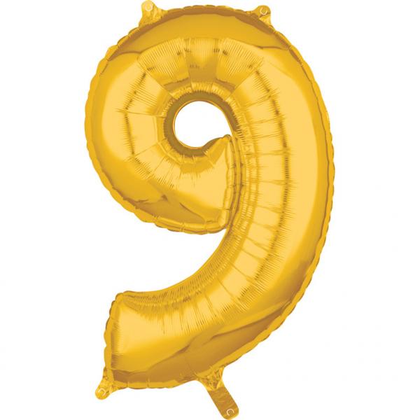 Zahlenballon Gold L - 9