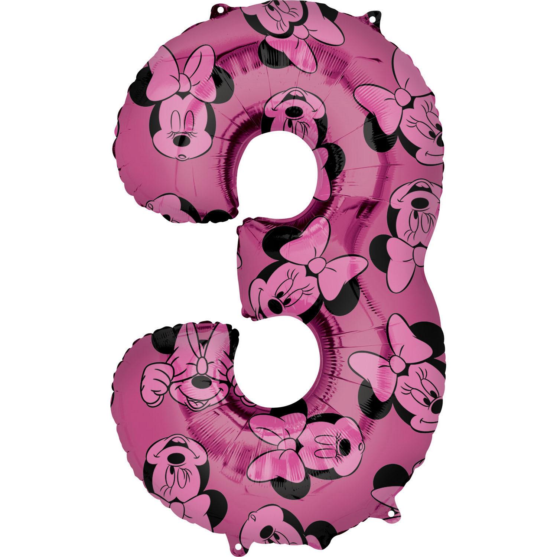 Zahlenballon Minnie Mouse Alloverdruck L - 3