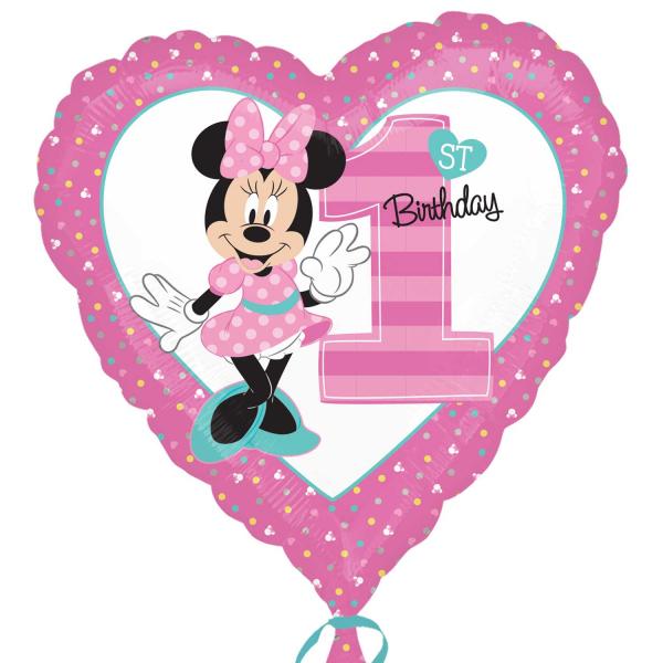 Folienballon Minnie 1st Birthday