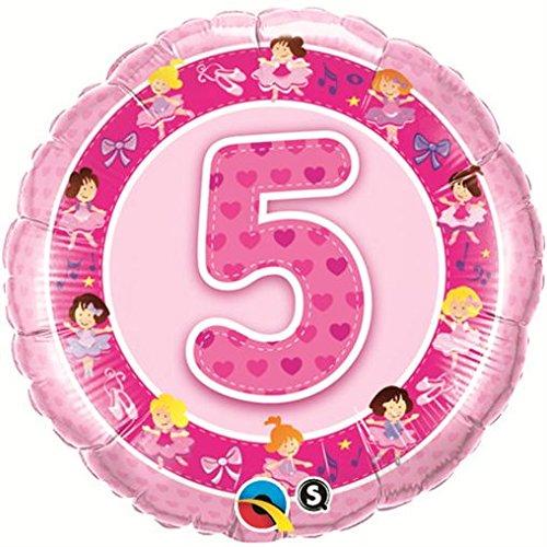 Folienballon 5 Pink Ballerinas