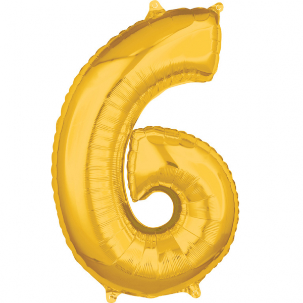 Zahlenballon Gold L - 6