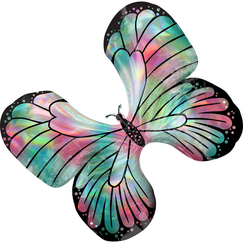 Folienballon-Supershape Schmetterling schimmernd