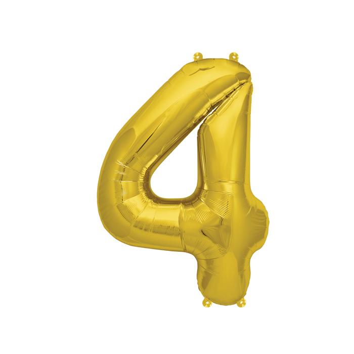 Zahlenballon Gold S - 4