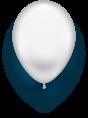Latexballon weiß - 1 Stück - Größe 11'