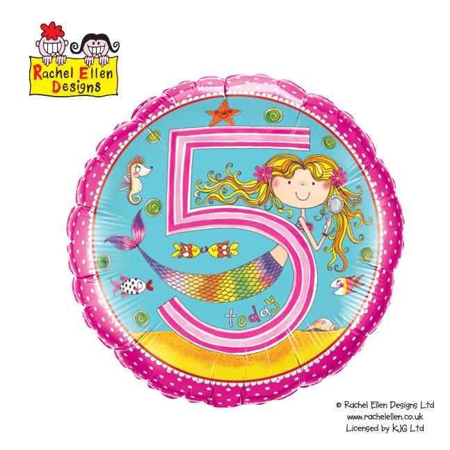 Folienballon Rachel-Ellen 5 Mermaid Polka Dots
