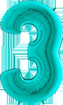 Zahlenballon Tiffany L - 3