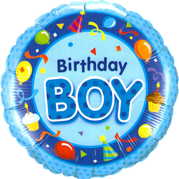Folienballon Standard Birthday Boy Blue