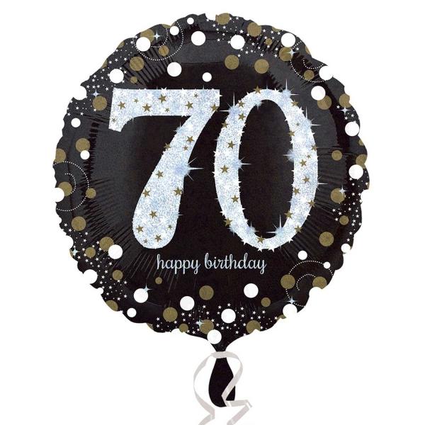 Folienballon Sparkling Birthday 70