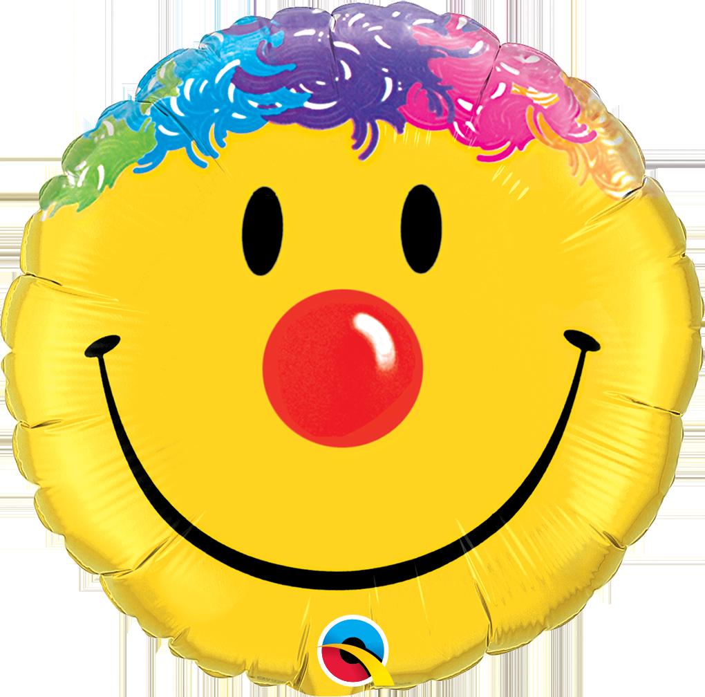 Folienballon Smiley Clown - 18inch
