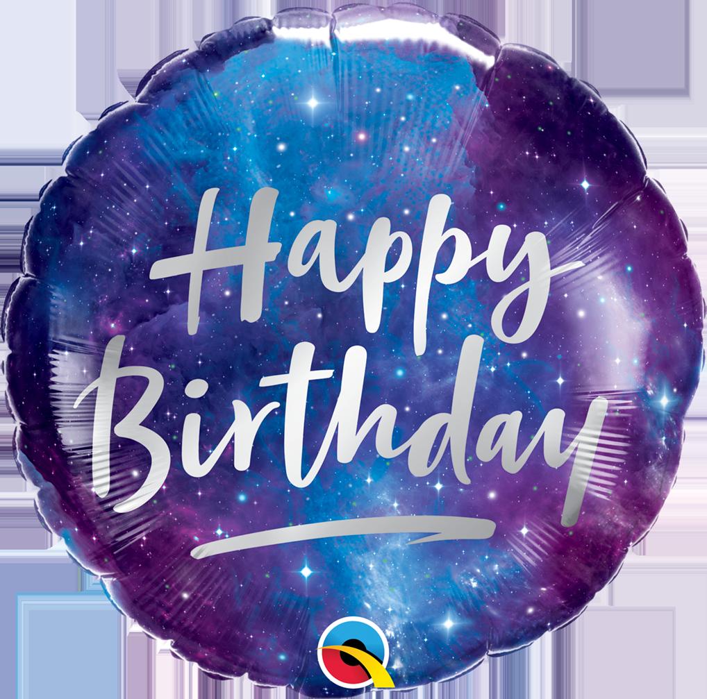 Folienballon Birthday Galaxy