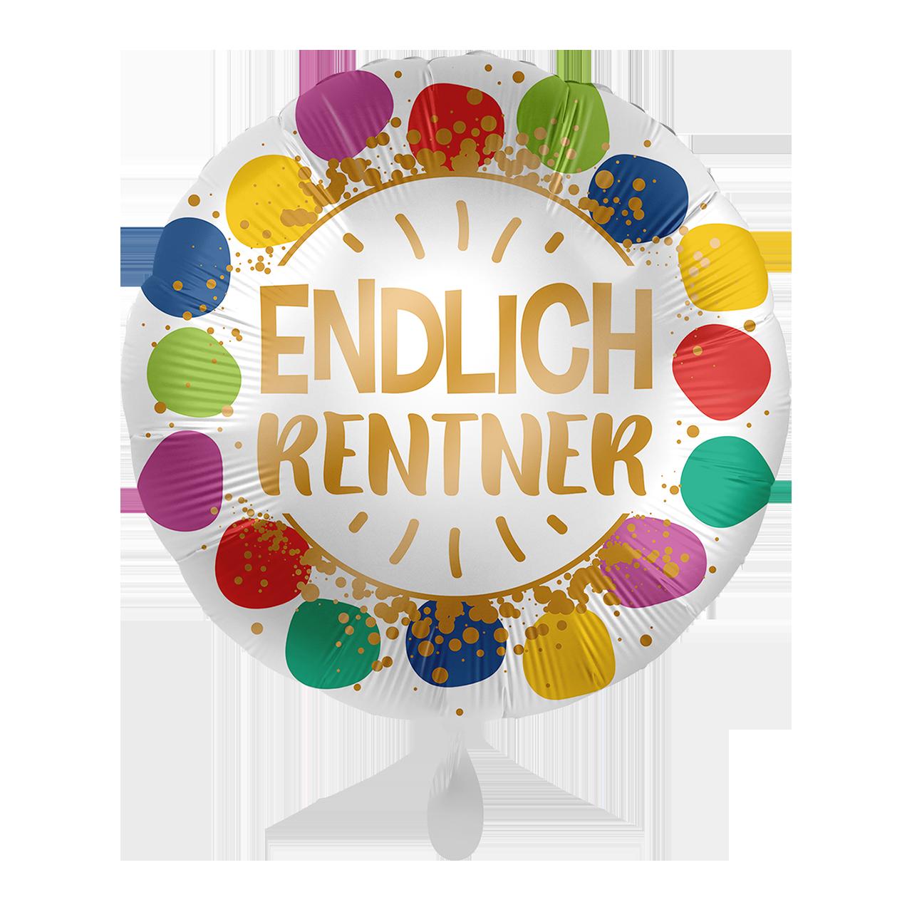 Folienballon Enldich Rentner