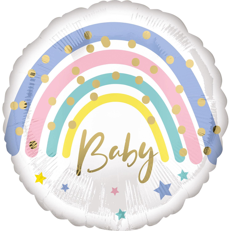 Folienballon Pastel Rainbow Baby