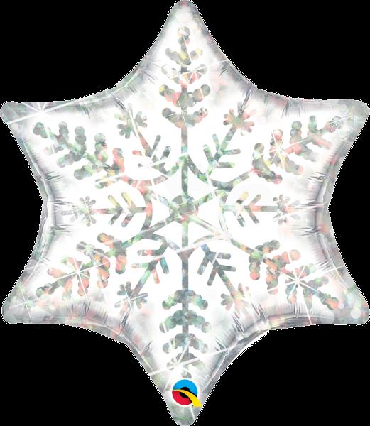 Folienballon Dazzling Snowflake