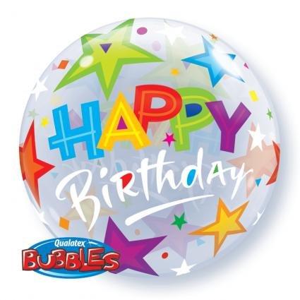 Bubble Birthday Brilliant Stars