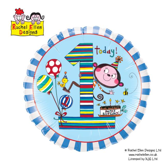 Folienballon Rachel-Ellen 1 Monkey Stripes
