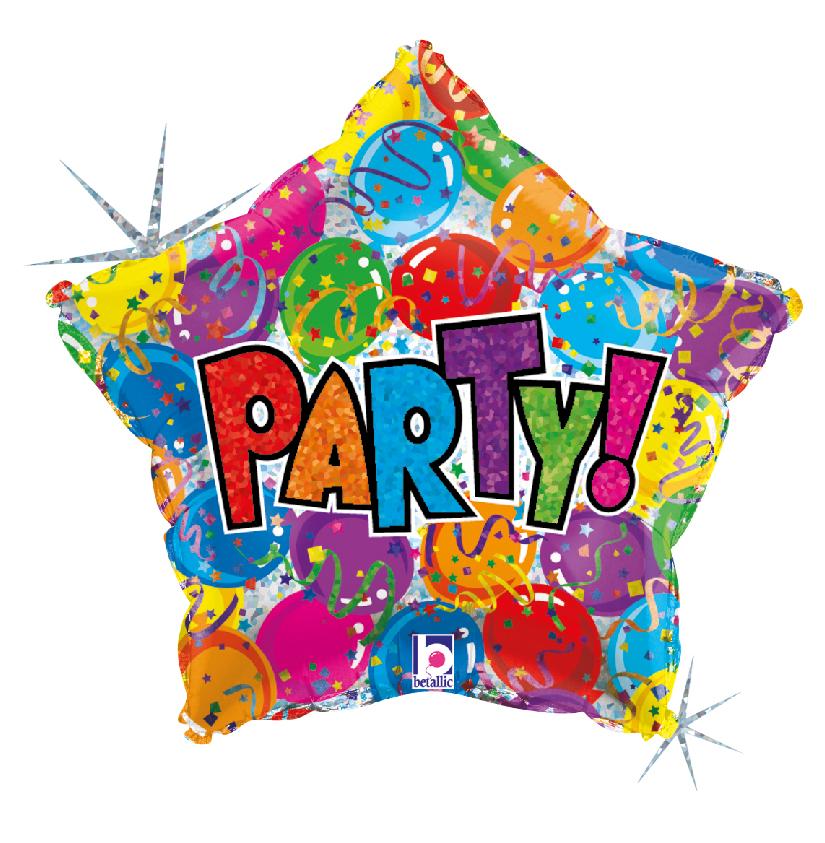 Folienballon Party Star