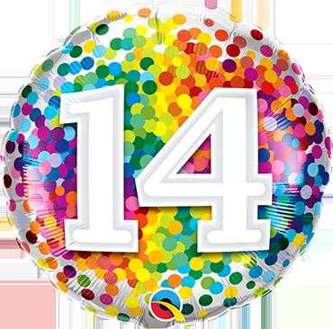 Folienballon Rainbow Confetti 14