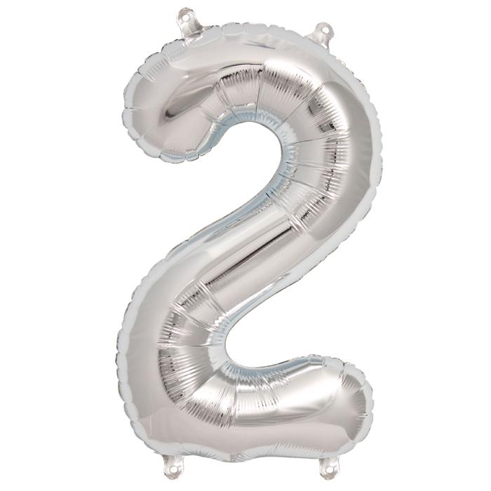 Zahlenballon Silber XL - 2