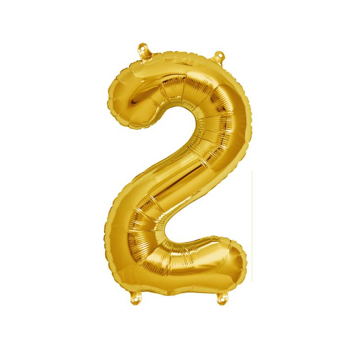 Zahlenballon Gold S - 2