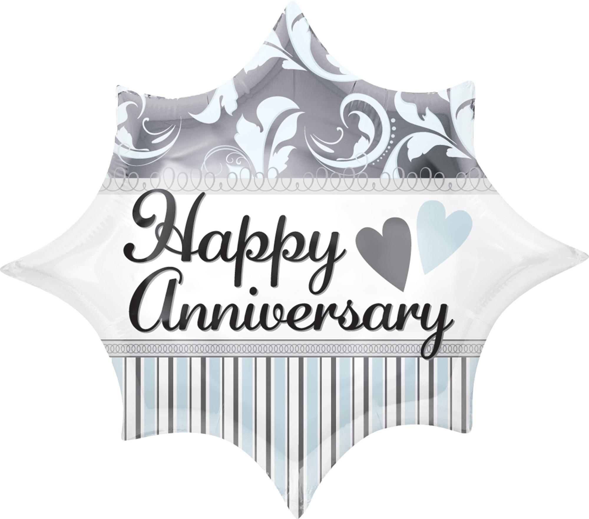 Folienballon Elegant Happy Anniversary - 60105