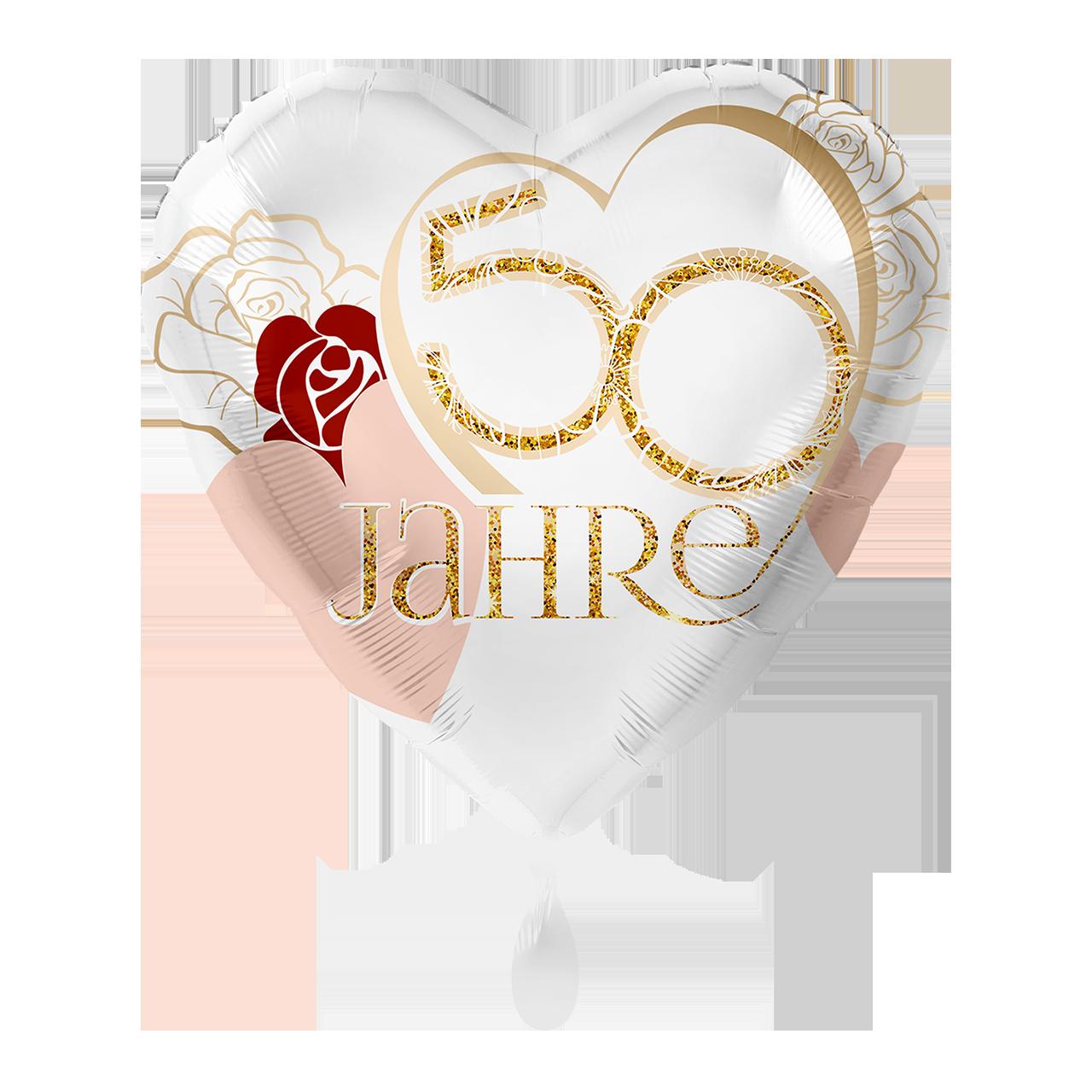 Folienballon 50 Jahre Goldhochzeit