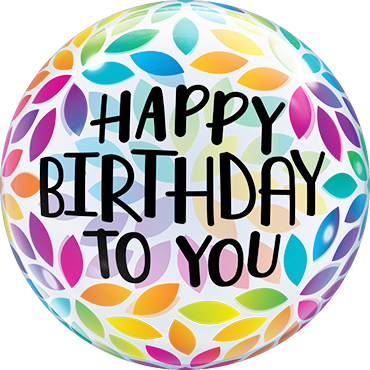 Bubble Happy Birthday To You Petals - 65104